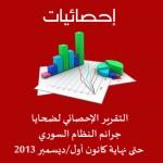 <!--:ar-->الاحصائية الشهرية لضحايا جرائم النظام السوري حتى نهاية كانون أول/ديسمبر 2013<!--:-->